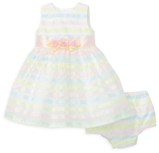 Little Me Baby Girl's 2-Piece Multi-Stripe Dress Bloomers Set