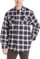 Wrangler Authentics Men's Long Sleeve Quilted Flannel Lined Shirt