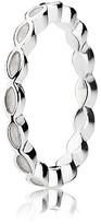 Pandora Ring - Faith Sterling Silver & White Enamel