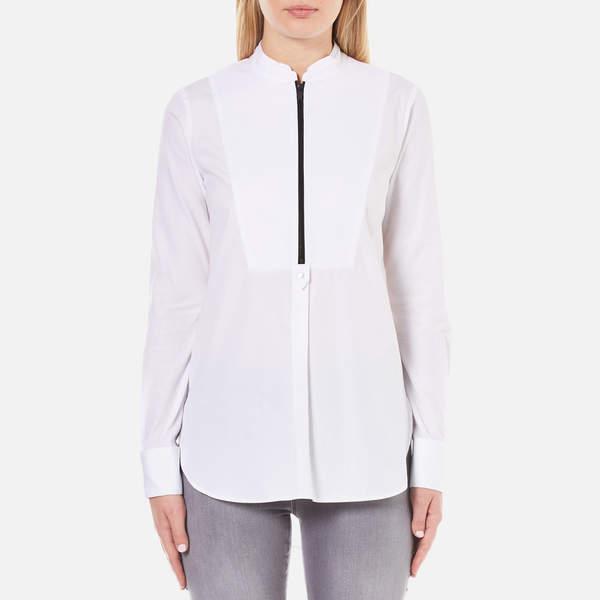 Karl Lagerfeld Women's Poplin Tunic Shirt White