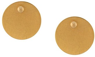 HSU JEWELLERY LONDON Brushed-Finish Disc Earrings