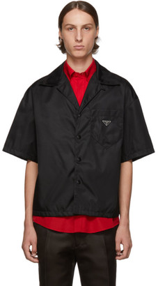 Prada Black Nylon Gabardine Shirt