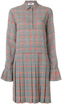 MSGM pleated plaid dress - women - Polyester - 42