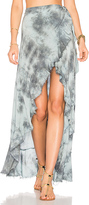 Blue Life Aura Wrap Skirt in Green. - size L (also in )