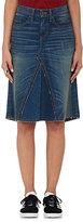 6397 Women's Loose Skinny Midi-Skirt-BLUE