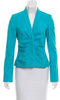 Versace Pleat-Accented Button-Up Blazer w/ Tags