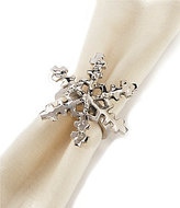 Aman Imports Hammered Brass Snowflake Napkin Ring