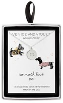 """Venice & Violet Women's Venice and Violet by Dogeared """"So Much Love"""" Dogbone Disc Necklace in Sterling Silver - Silver (18"""" + 2"""")"""