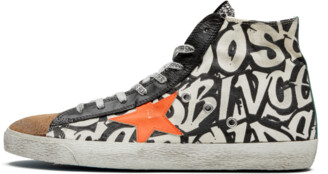 Golden Goose Francy 'Graffiti Canvas' Shoes - Size 40