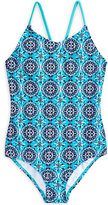 Kanu Surf 1-Pc. Hannah Abstract-Print Swimsuit, Big Girls (7-16)