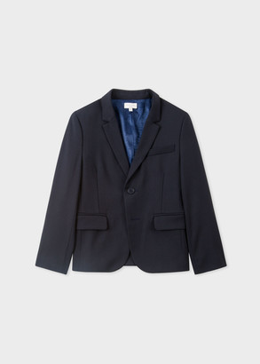 Paul Smith 2-6 Years Navy 'A Suit To Smile In' Wool Blazer