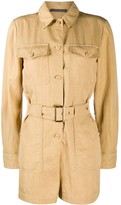 Alberta Ferretti long-sleeved belted playsuit
