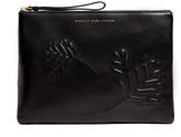 Marc by Marc Jacobs Black Floral Leather Wristlet Tablet Case