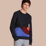 Burberry Splash Appliqué Jersey Sweater