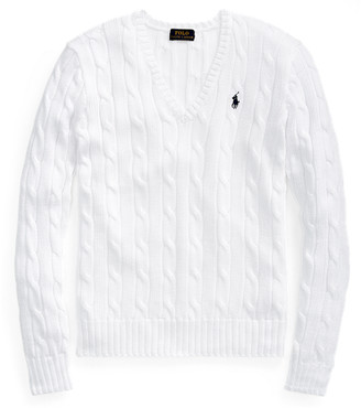 Ralph Lauren Cable-Knit V-Neck Jumper