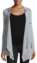 Koral Activewear Flash Speckled-Print Hooded Cardigan
