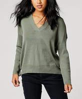 Carve Designs Women's Pullover Sweaters Moss - Moss Aurora Wool-Blend Sweater - Women