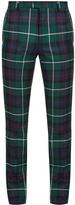 Burberry Mid-rise tartan slim-leg wool trousers