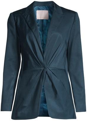 Rebecca Taylor Ottoman Pleated Front Blazer