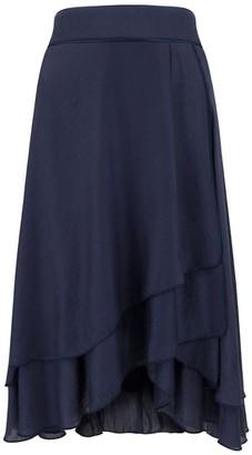 A.N.A Blue Modal-Silk Maxi Skirt
