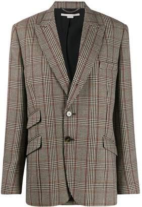 Stella McCartney single-breasted check blazer