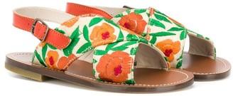 Pépé Floral Crossover Sandals