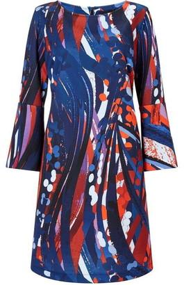James Lakeland Printed Flute Sleeve Dress