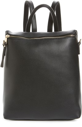 BP Square Faux Leather Backpack