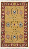 Surya NMD703 Nomadic Kilim Southwest Inspired Hand Woven 100% New Zealand Wool Gold Rug (5-Feet x 8-Feet )