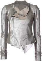 Rick Owens draped biker jacket
