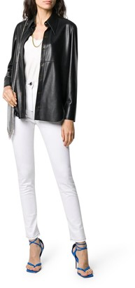 Balmain High Waist Skinny Jeans W/ Monogram