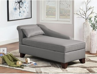 Winston Porter Buruss Chaise Lounge Upholstery Color: Gray Polyfiber