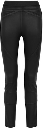 High Hi-Lay-Out black coated stretch-jersey leggings