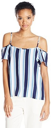 Lucca Couture Women's Cold Shoulder Top