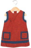 Oscar de la Renta Girls' Two-Tone Wool Dress