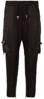 Balmain Cropped Satin Pants