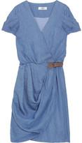Chambray wrap dress