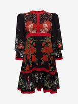 Alexander McQueen Floral Empire-line Dress