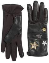 Lord & Taylor Applique Star Touchscreen Gloves