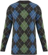 Acne Studios Newton argyle-intarsia wool sweater