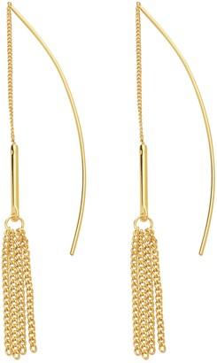 Sterling Forever Bar & Fringe Threader Earrings