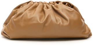 Bottega Veneta THE POUCH LEATHER CLUTCH OS Brown, Beige Leather