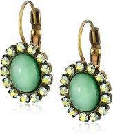 "Liz Palacios Piedras"" Swarovski Crystallized and Cabochon Earrings"