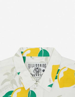 Billionaire Boys Club Lemon-print regular-fit cotton shirt