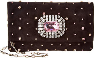 Jimmy Choo Titania Embellished Suede Wallet Clutch