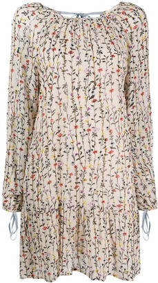 Semi-Couture Straight Fit Floral Print Dress