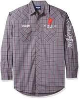 Wrangler Men's Tall Size Western Logo Long Sleeve Snap Front Shirt