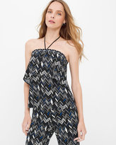 White House Black Market Geo Zigzag Halter Top