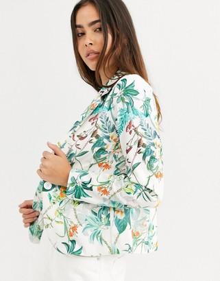 B.young floral blazer-Multi