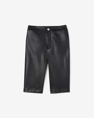 Express Olivia Culpo High Waisted Vegan Leather Bermuda Shorts